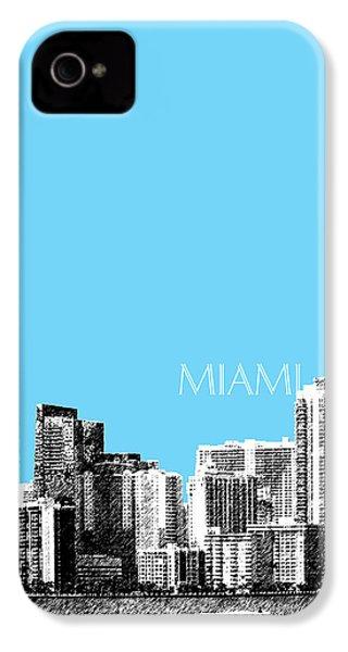 Miami Skyline - Sky Blue IPhone 4s Case by DB Artist