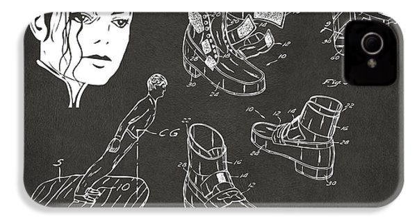 Michael Jackson Anti-gravity Shoe Patent Artwork Vintage IPhone 4s Case by Nikki Marie Smith