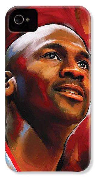 Michael Jordan Artwork 2 IPhone 4s Case by Sheraz A