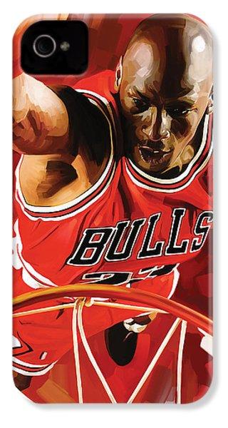 Michael Jordan Artwork 3 IPhone 4s Case by Sheraz A