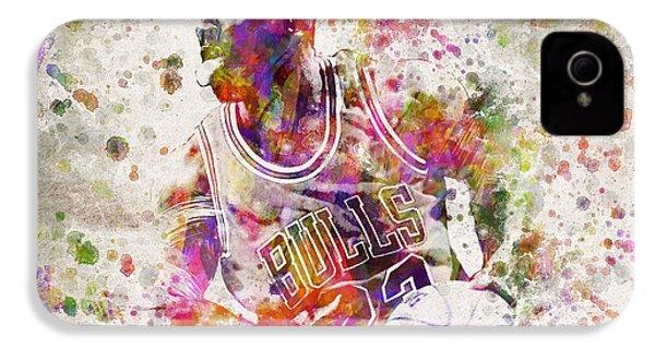 Michael Jordan In Color IPhone 4s Case