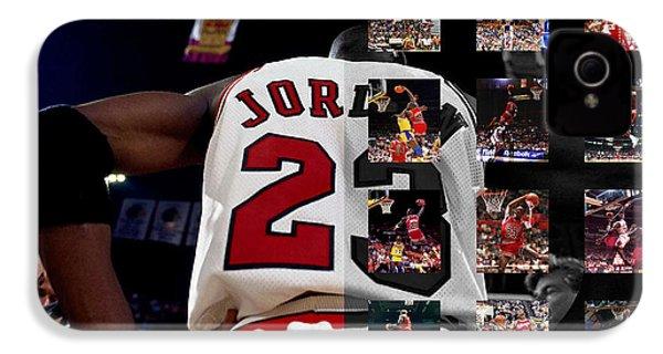 Michael Jordan IPhone 4s Case by Joe Hamilton