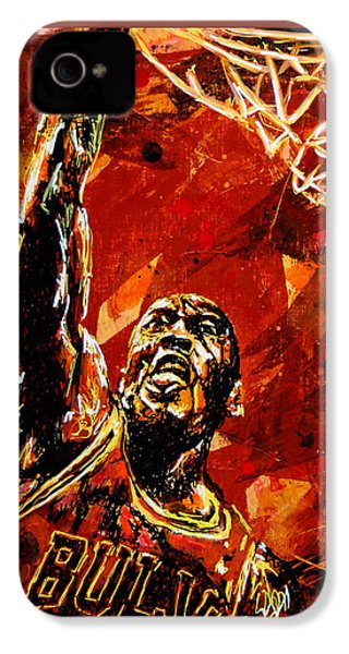 Michael Jordan IPhone 4s Case by Maria Arango