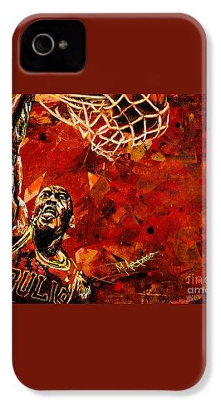 Michael Jordan IPhone 4s Case by Maria Arango