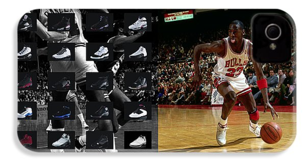 Michael Jordan Shoes IPhone 4s Case by Joe Hamilton