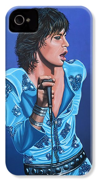 Mick Jagger IPhone 4s Case by Paul Meijering