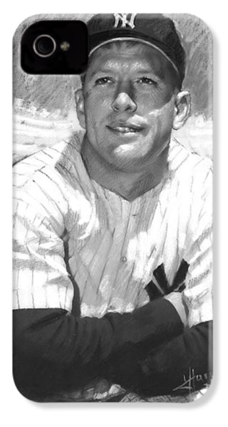 Mickey Mantle IPhone 4s Case by Viola El