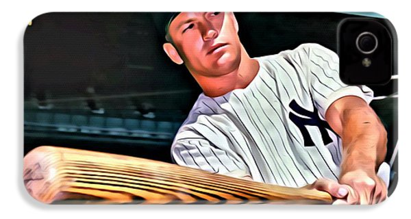 Mickey Mantle Painting IPhone 4s Case by Florian Rodarte
