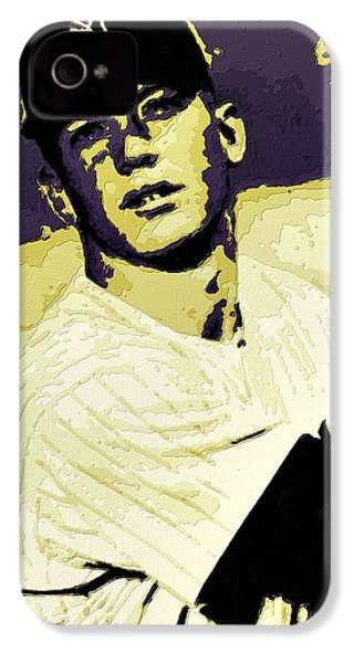 Mickey Mantle Poster Art IPhone 4s Case by Florian Rodarte
