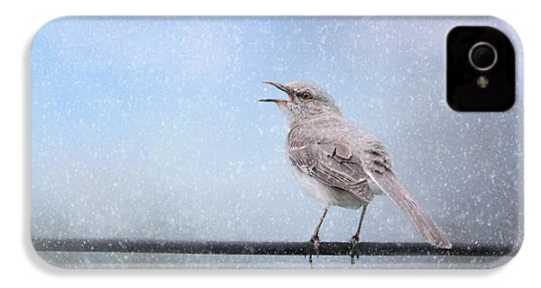 Mockingbird In The Snow IPhone 4s Case by Jai Johnson