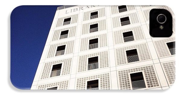 Modern Architecture City Library Stuttgart IPhone 4s Case by Matthias Hauser