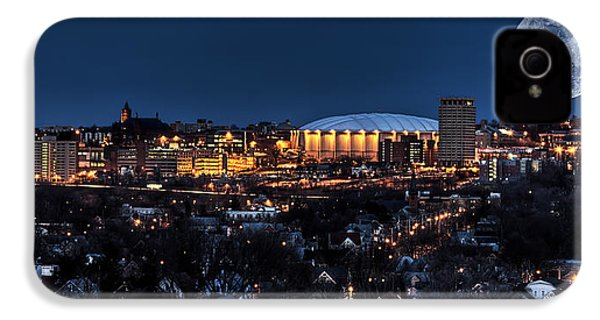 Moon Over The Carrier Dome IPhone 4s Case by Everet Regal