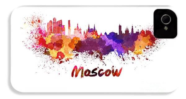 Moscow Skyline In Watercolor IPhone 4s Case