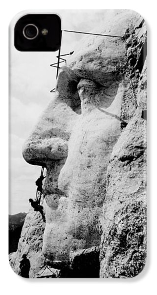 Mount Rushmore Construction Photo IPhone 4s Case by War Is Hell Store