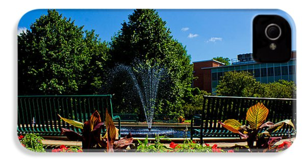 Msu Water Fountain IPhone 4s Case by John McGraw