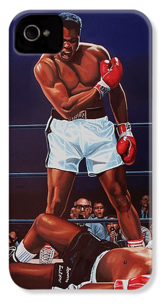 Muhammad Ali Versus Sonny Liston IPhone 4s Case by Paul Meijering