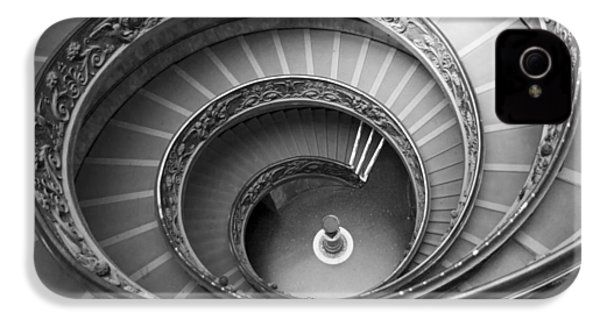 IPhone 4s Case featuring the photograph Musei Vaticani Stairs by Nathan Rupert
