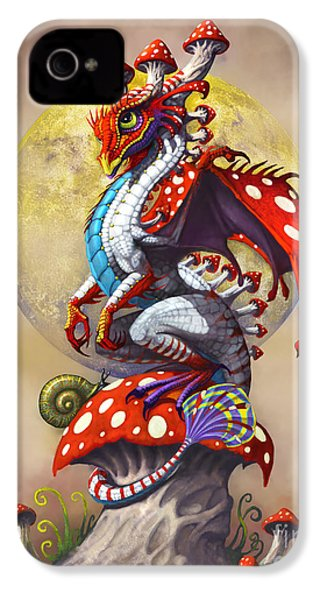 Mushroom Dragon IPhone 4s Case by Stanley Morrison