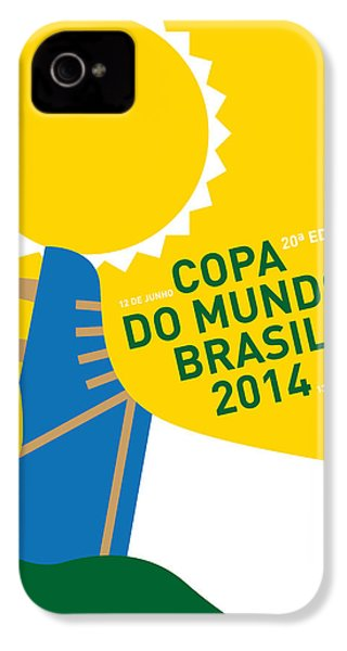 My 2014 World Cup Soccer Brazil - Rio Minimal Poster IPhone 4s Case