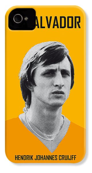 My Cruijff Soccer Legend Poster IPhone 4s Case