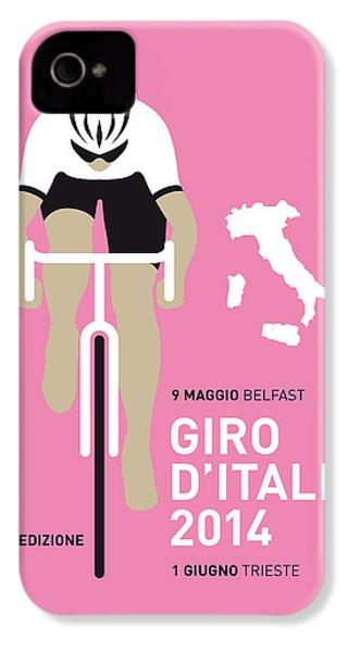 My Giro D Italia Minimal Poster 2014 IPhone 4s Case by Chungkong Art
