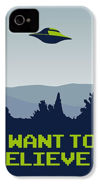 My I Want To Believe Minimal Poster IPhone 4s Case by Chungkong Art