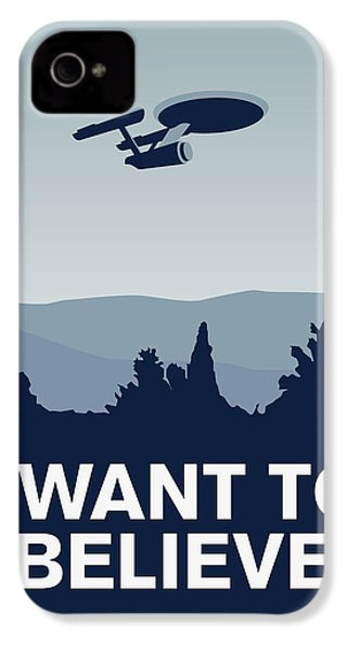My I Want To Believe Minimal Poster-enterprice IPhone 4s Case by Chungkong Art