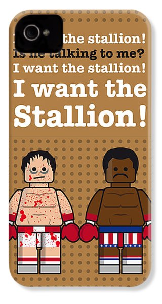 My Rocky Lego Dialogue Poster IPhone 4s Case by Chungkong Art