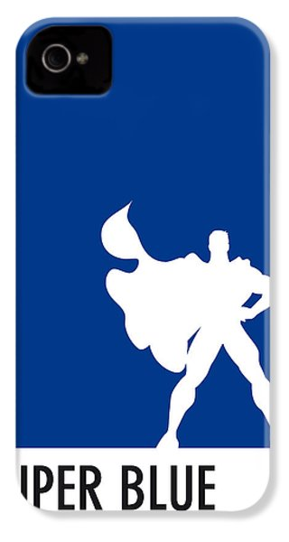 My Superhero 03 Super Blue Minimal Poster IPhone 4s Case by Chungkong Art