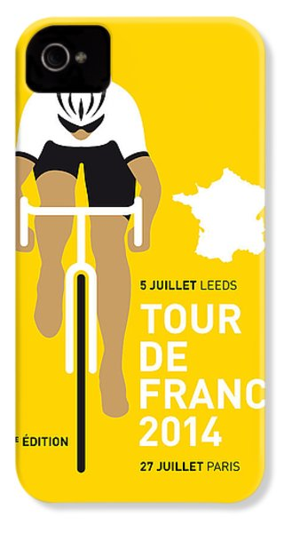 My Tour De France Minimal Poster 2014 IPhone 4s Case by Chungkong Art