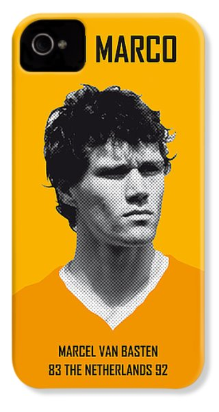 My Van Basten Soccer Legend Poster IPhone 4s Case by Chungkong Art
