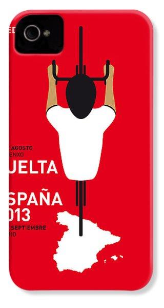 My Vuelta A Espana Minimal Poster - 2013 IPhone 4s Case by Chungkong Art