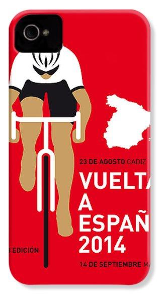 My Vuelta A Espana Minimal Poster 2014 IPhone 4s Case by Chungkong Art