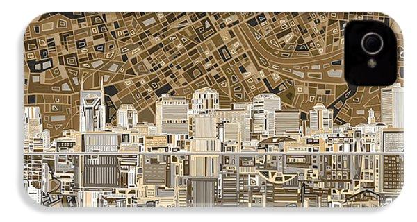 Nashville Skyline Abstract 2 IPhone 4s Case by Bekim Art