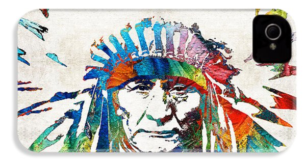 Native American Art - Chief - By Sharon Cummings IPhone 4s Case