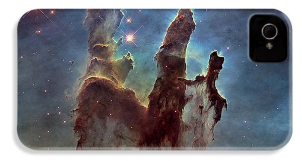 New Pillars Of Creation Hd Square IPhone 4s Case by Adam Romanowicz