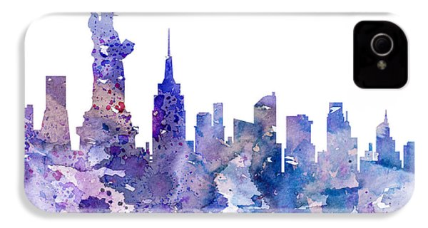 New York IPhone 4s Case by Watercolor Girl