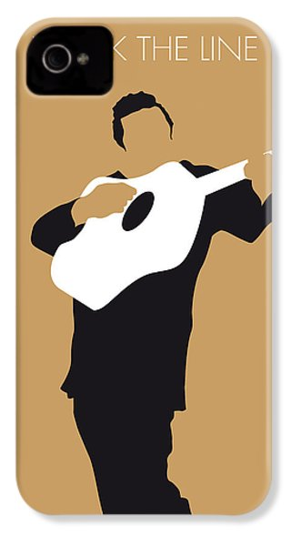 No010 My Johnny Cash Minimal Music Poster IPhone 4s Case by Chungkong Art