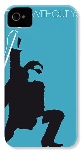 No035 My U2 Minimal Music Poster IPhone 4s Case by Chungkong Art