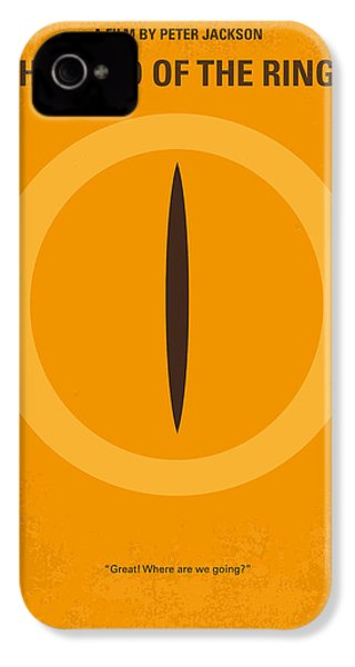No039 My Lord Of The Rings Minimal Movie Poster IPhone 4s Case by Chungkong Art