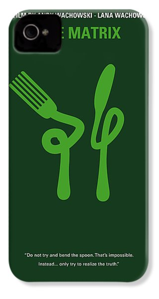 No093 My The Matrix Minimal Movie Poster IPhone 4s Case by Chungkong Art