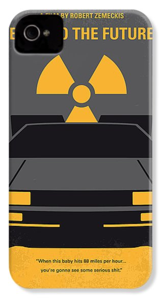 No183 My Back To The Future Minimal Movie Poster IPhone 4s Case by Chungkong Art