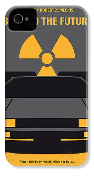 No183 My Back To The Future Minimal Movie Poster IPhone 4s Case