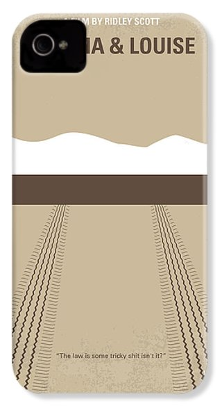 No189 My Thelma And Louise Minimal Movie Poster IPhone 4s Case by Chungkong Art
