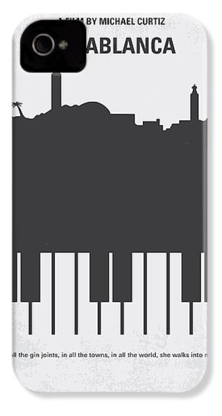 No192 My Casablanca Minimal Movie Poster IPhone 4s Case by Chungkong Art
