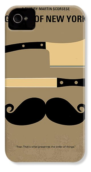 No195 My Gangs Of New York Minimal Movie Poster IPhone 4s Case by Chungkong Art