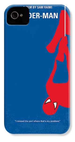 No201 My Spiderman Minimal Movie Poster IPhone 4s Case by Chungkong Art