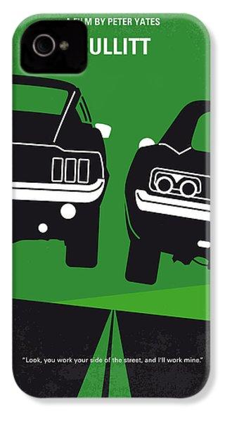 No214 My Bullitt Minimal Movie Poster IPhone 4s Case by Chungkong Art