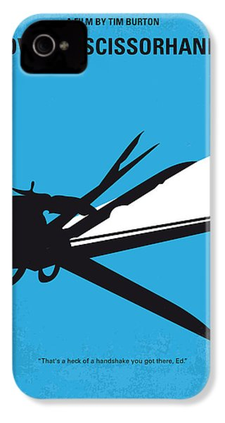 No260 My Scissorhands Minimal Movie Poster IPhone 4s Case
