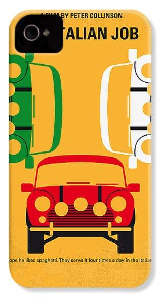 No279 My The Italian Job Minimal Movie Poster IPhone 4s Case by Chungkong Art